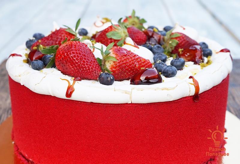 Торт «Красный бархат». Пошаговый рецепт с фото.