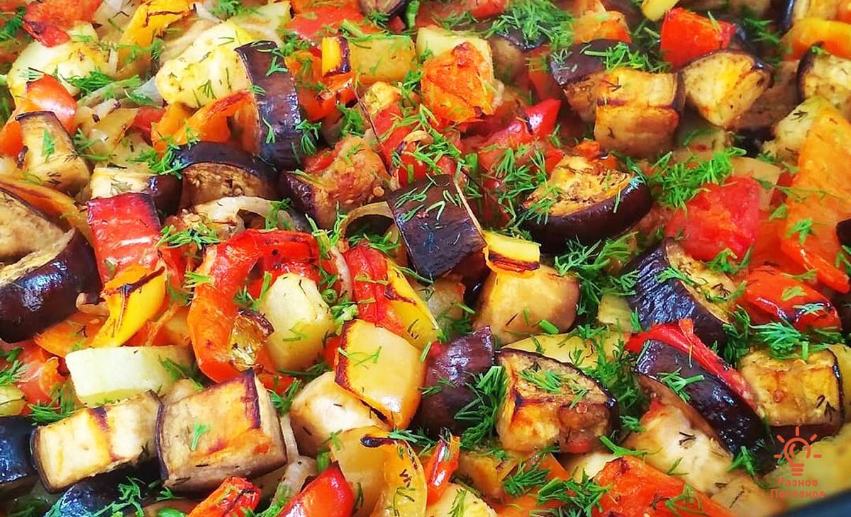 Овощное рагу простое и вкусное. Пошаговый рецепт.