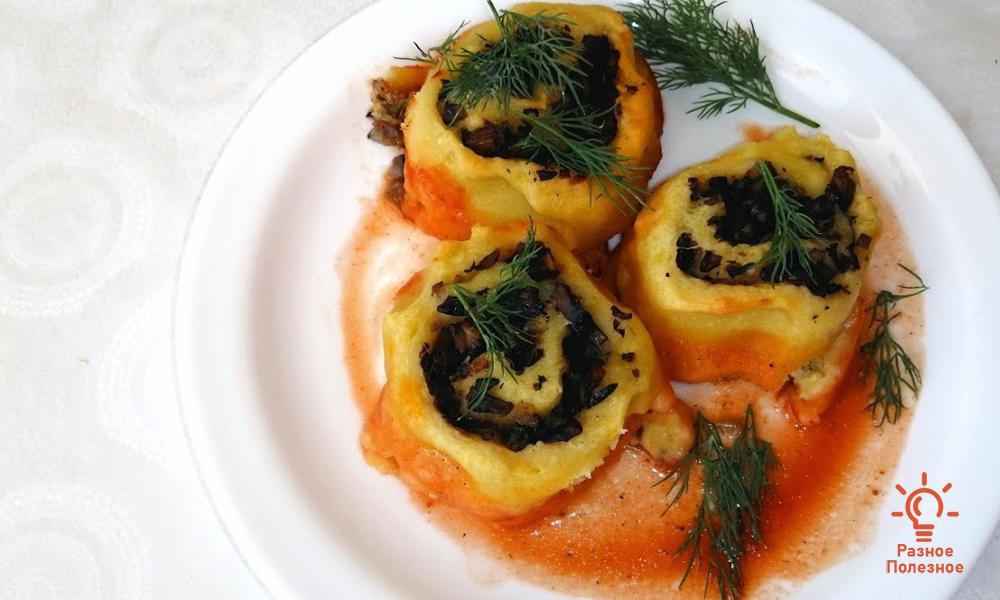 Картофель с грибами. Пошаговый рецепт с фото