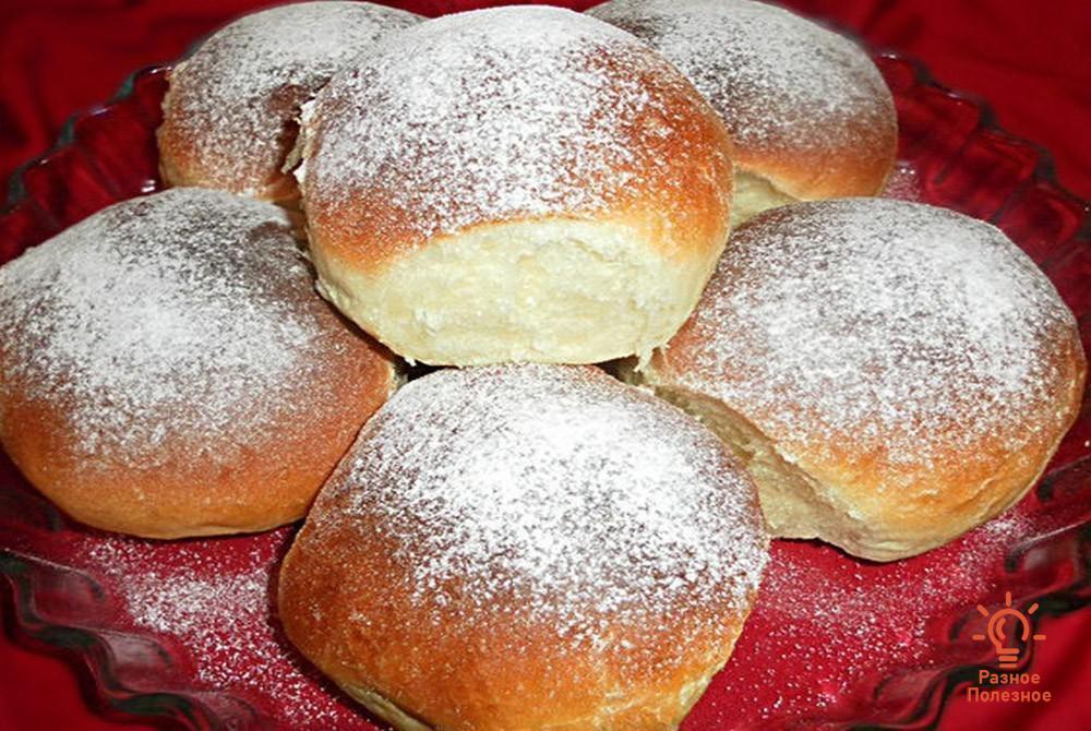 Рецепт булочек из творожного теста без дрожжей
