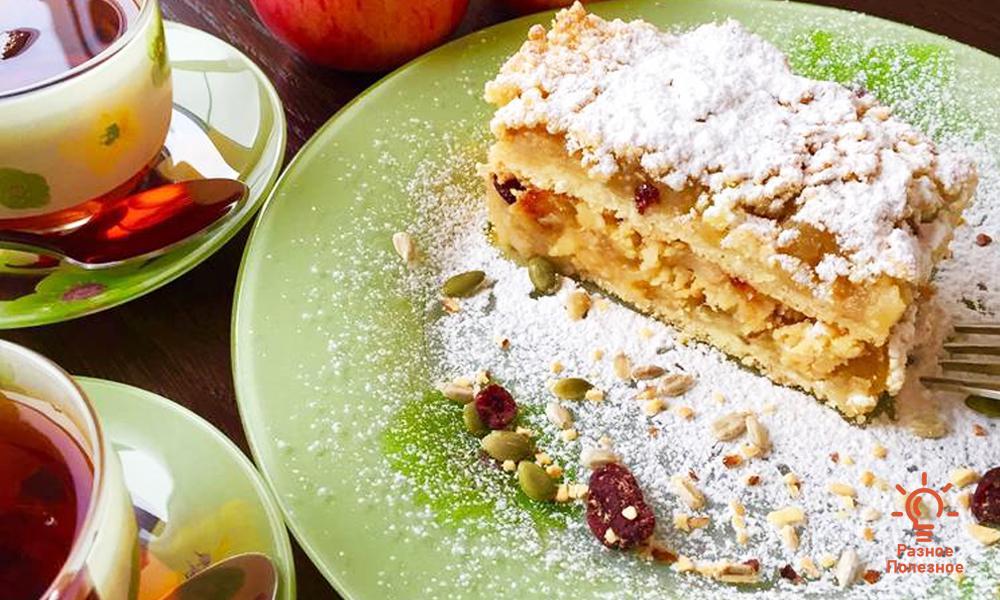 Яблочный крамбл – быстро и вкусно. Пошаговый рецепт с фото