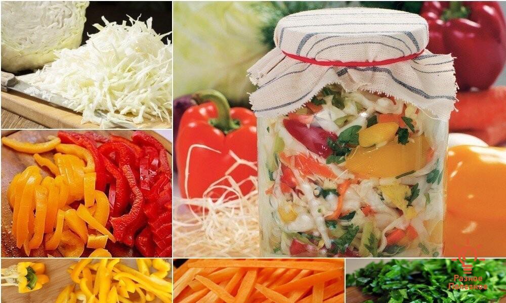 4 самых вкусных салата из капусты на зиму. Пошаговые рецепты с фото