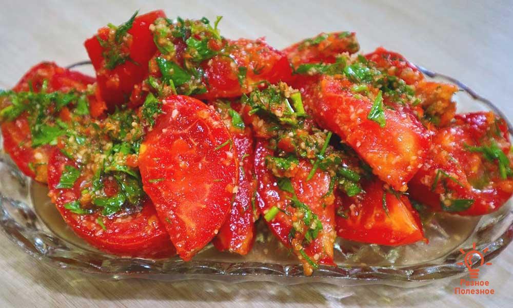 Вкуснейшая закуска помидоры по-корейски