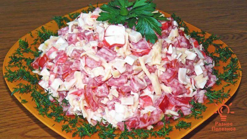 Рецепт салата с крабовыми палочками — оригинальный